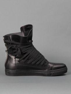 Kris Van Assche High Top Sneakers with rubber sole