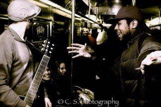 Sciryl rappin on the train